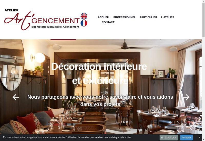 Capture d'écran du site de Art Gencement