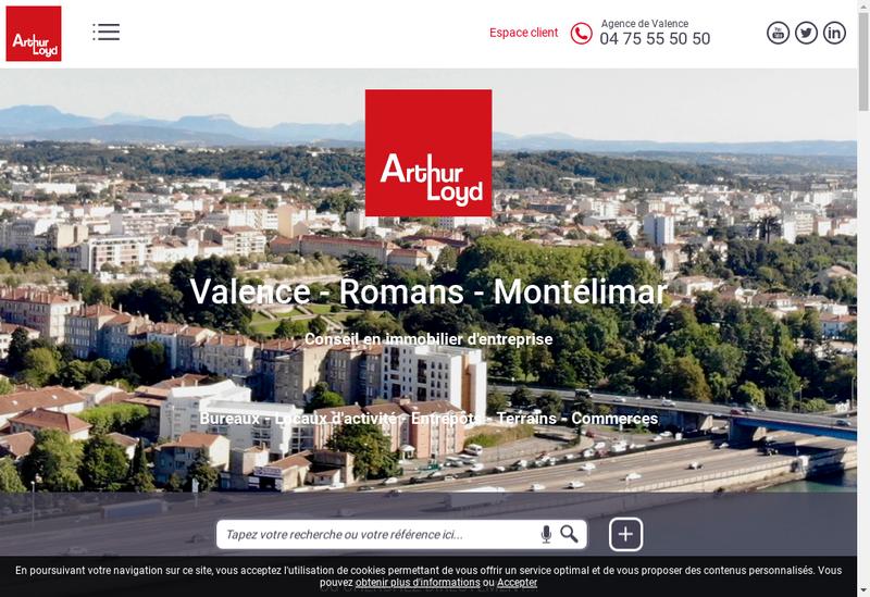 Capture d'écran du site de Asencio Immobilier