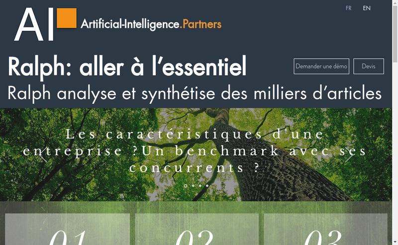 Capture d'écran du site de Artificial-Intelligence Partners