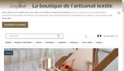 Site internet de Artifilum