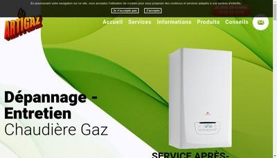 Site internet de Artigaz