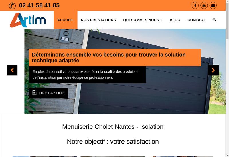 Capture d'écran du site de Artim