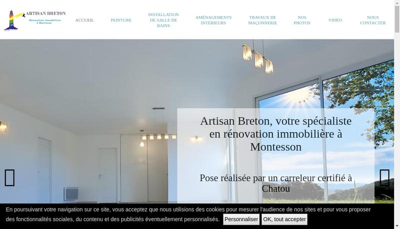 Capture d'écran du site de Artisan Breton