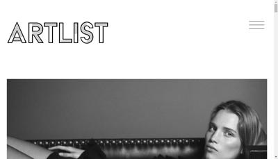 Capture d'écran du site de Artlist