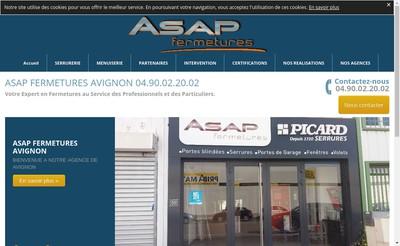 Site internet de Asap Fermetures