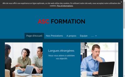 Site internet de ASC Formation