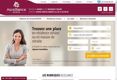 Site internet de Ascelliance Retraite