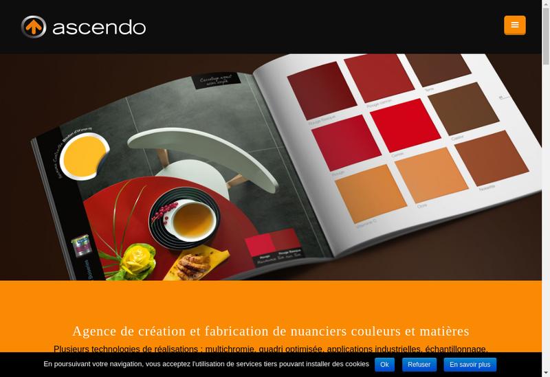 Capture d'écran du site de SARL Ascendo