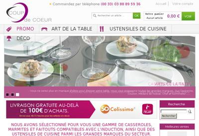 Capture d'écran du site de Asc Instrument
