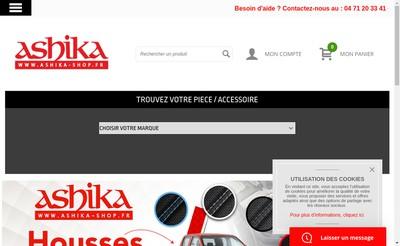 Site internet de Ashika France