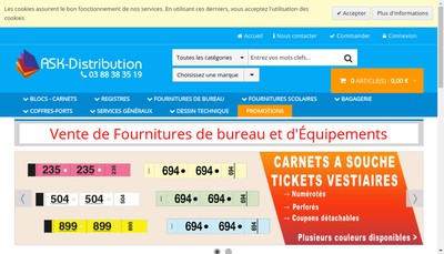 Site internet de Ask Distribution