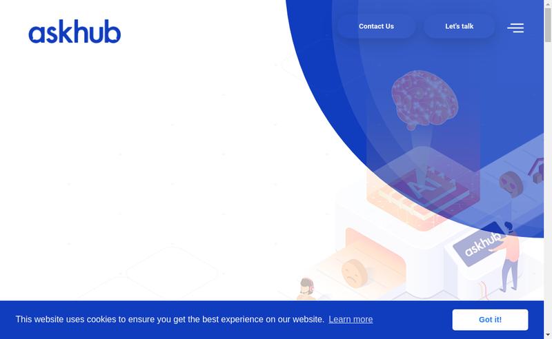 Capture d'écran du site de Askhub