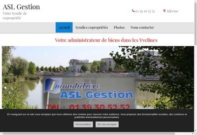 Site internet de Asl Gestion