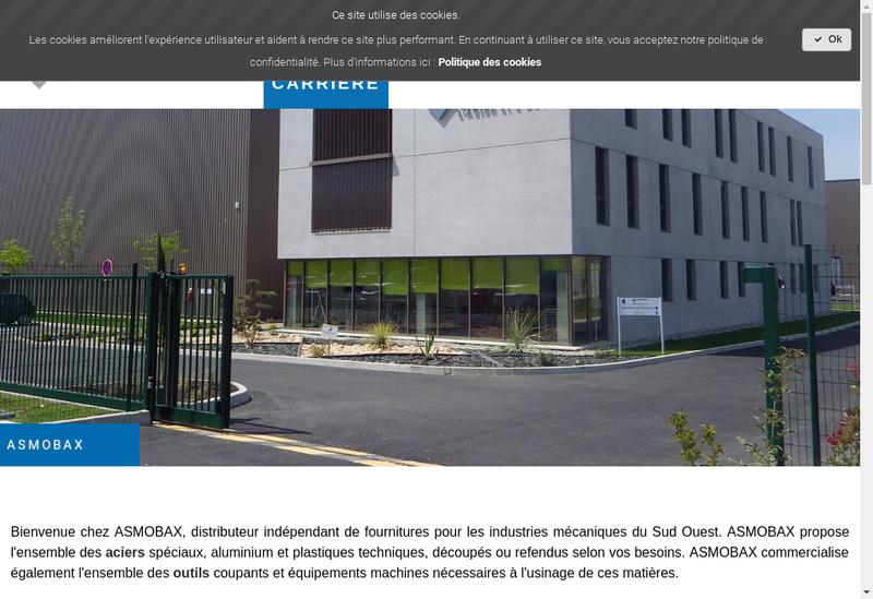 Capture d'écran du site de Asmo Bax