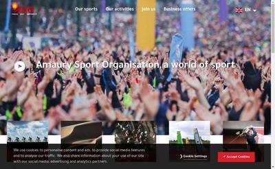 Site internet de Amaury Sport Organisation