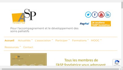 Site internet de Asp Fondatrice
