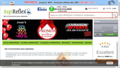 Capture d'écran du site de Francklin