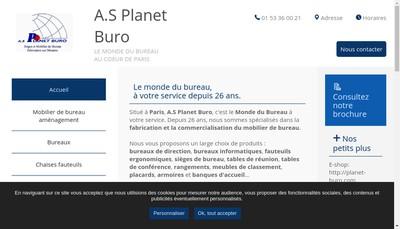Site internet de AS Planet Buro