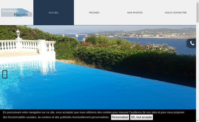 Site internet de Assistance Piscines