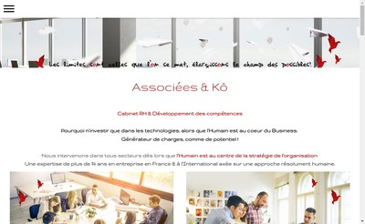 Site internet de Associees & Ko Consulting