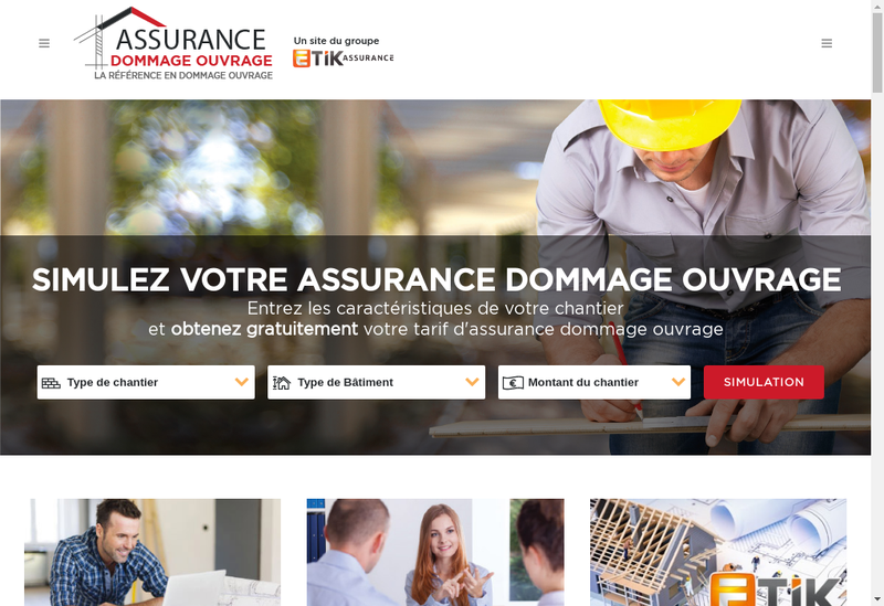 Capture d'écran du site de ETIK
