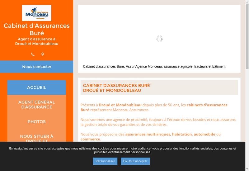 Capture d'écran du site de Marc Bure
