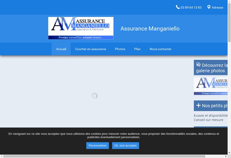 Capture d'écran du site de Assurance Manganiello