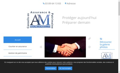 Site internet de Assurance Manganiello