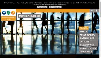 Site internet de Domitia Assurances
