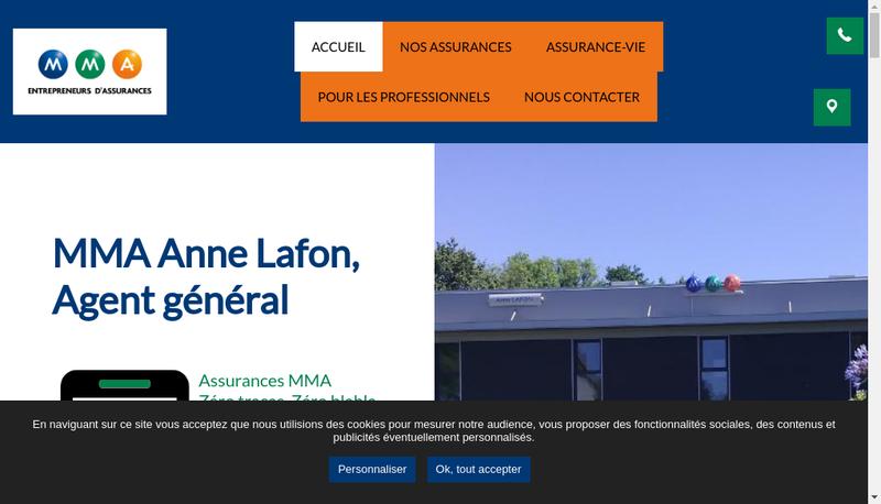 Capture d'écran du site de Mma