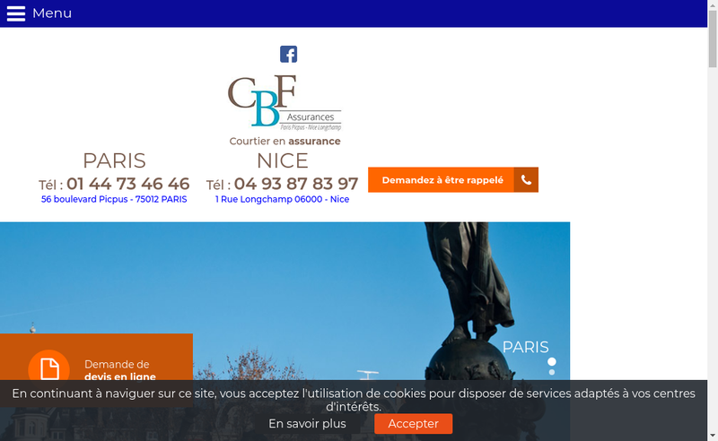 Capture d'écran du site de Cabinet Roudon