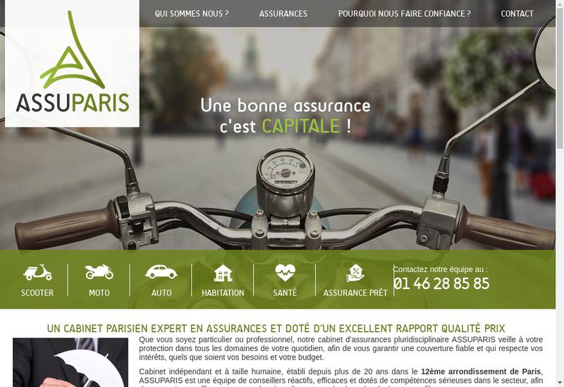 Capture d'écran du site de Assuparis