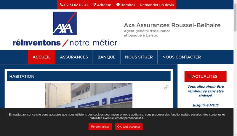 Capture d'écran du site de Lisieux Assurances 14
