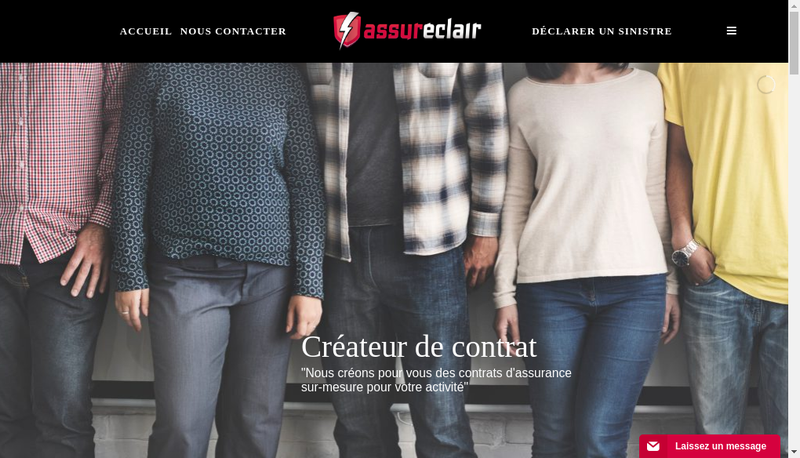 Capture d'écran du site de Assureclair