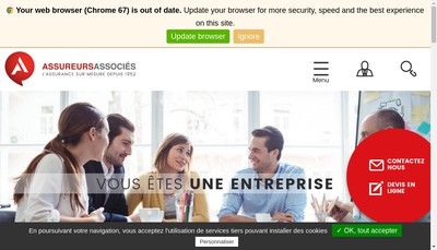 Site internet de Assureurs Associes