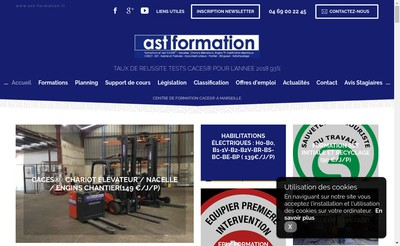Site internet de Ast Formation