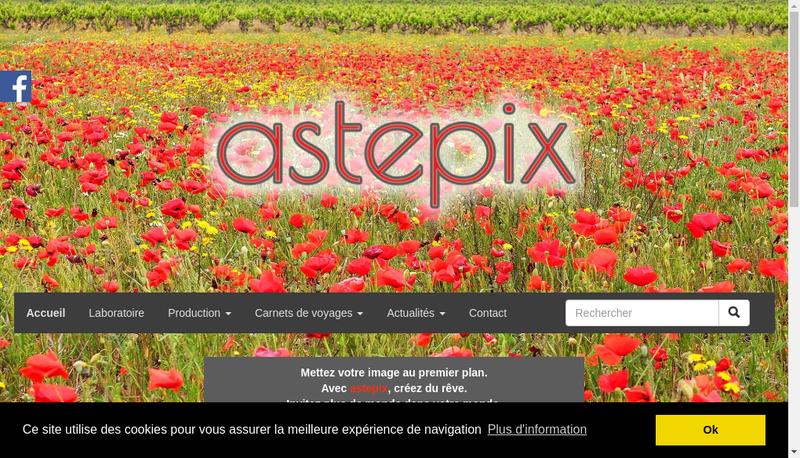 Capture d'écran du site de Astepix