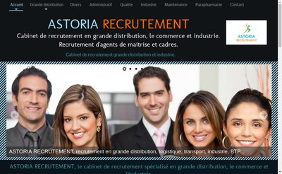 Site internet de Astoria Recrutement