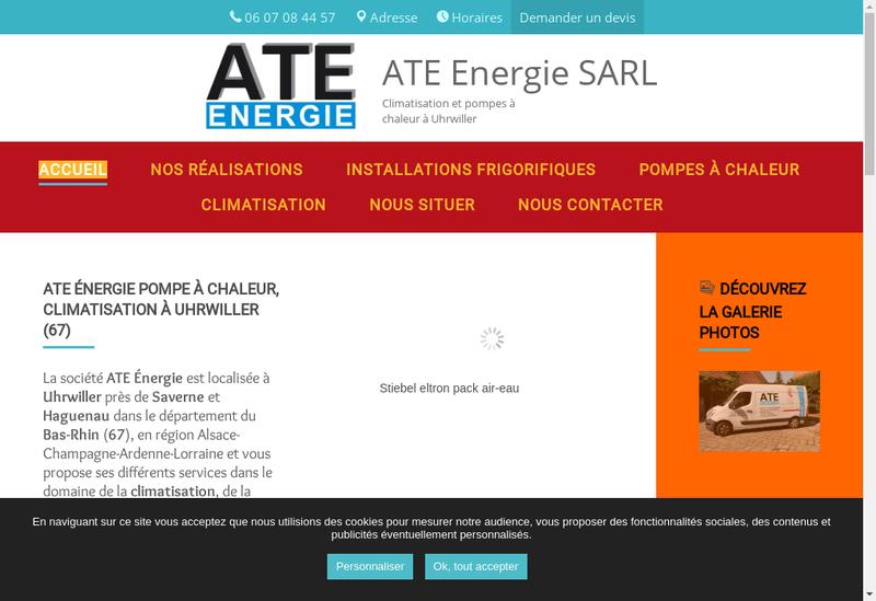 Capture d'écran du site de Ate Energie SARL