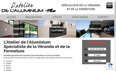 Site internet de L'Atelier de l'Aluminium