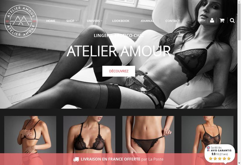 Capture d'écran du site de Atelier Amour
