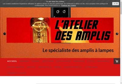 Site internet de L'Atelier des Amplis