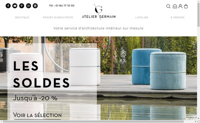 Site internet de Atelier Germain Edition