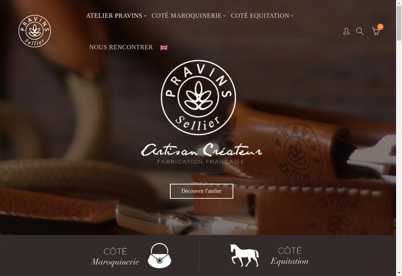 Capture d'écran du site de Atelier de Pravins