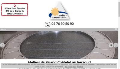 Site internet de Ateliers du Grand Chatelet