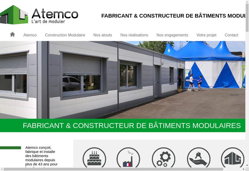 Capture d'écran du site de Atemco