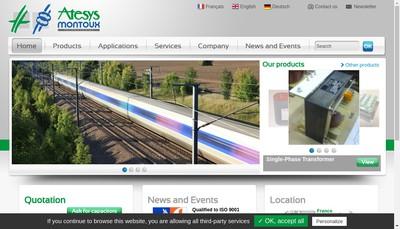 Site internet de Atesys