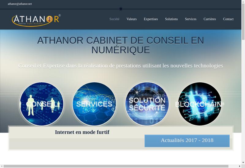 Capture d'écran du site de Athanor Informatique