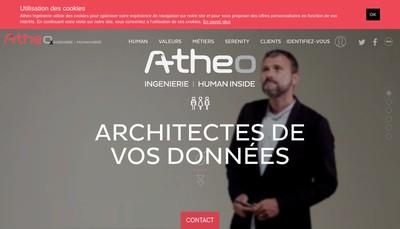 Site internet de Atheo Ingenierie
