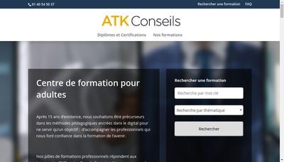 Site internet de Atk Conseils